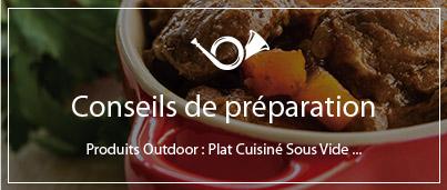 Conseils de préparation repas outdoor