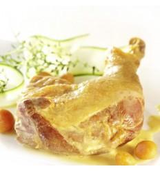 Cuisse de poule au curcuma sauce safranée