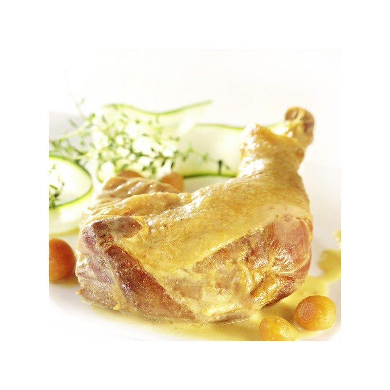 cuisse de poule au curcuma sauce safran e sachet sous vide 300 gr. Black Bedroom Furniture Sets. Home Design Ideas