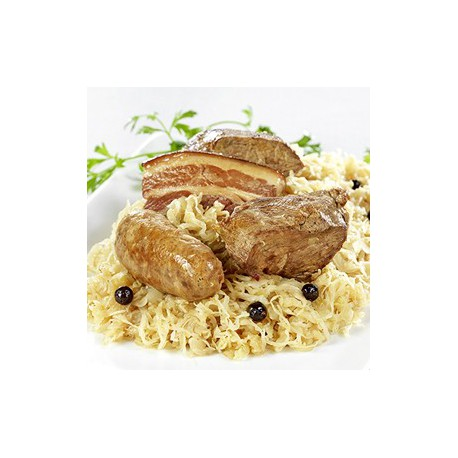 Choucroute de canard au riesling sachet 400gr le gourmet de la chasse - Plat cuisine sous vide ...