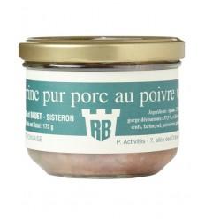 Terrine pur porc au poivre vert
