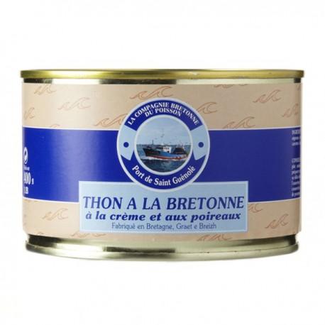 Thon à la bretonne à la crème et aux poireaux