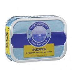 Sardines entières à l'huile d'olive et citron
