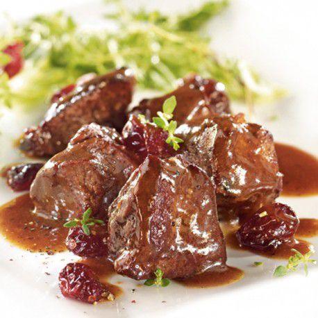viande de sanglier en sauce